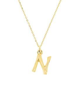 LETTER  Halskette N Gold