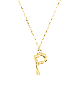 LETTER  Halskette P Gold