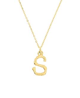 LETTER  Halskette S Gold
