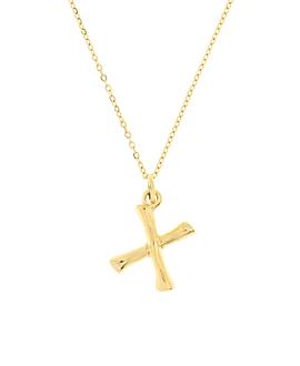 LETTER  Halskette X Gold