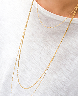 GLEAMING NECKLACE GOLD