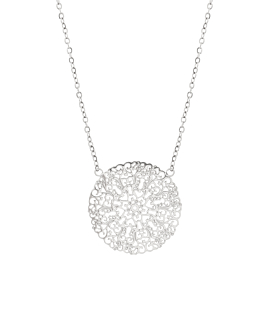 FLOWER ORNAMENT  Halskette Silber