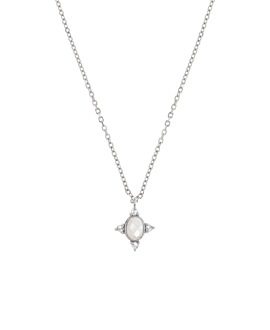 MOONSTONE SPARK  NECKLACE SILVER