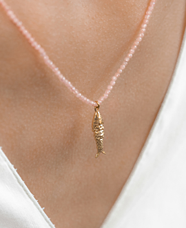 GOLD FISH  Halskette Gold