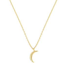 CRESCENT MOON|Halskette Gold