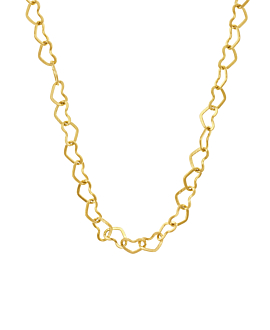 HEART CHAIN|Halskette Gold