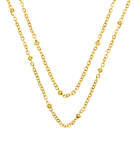 LAYER BEADS Halskette Gold