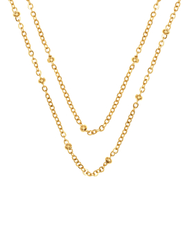LAYER BEADS|Halskette Gold
