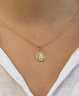 BEE  Halskette Gold