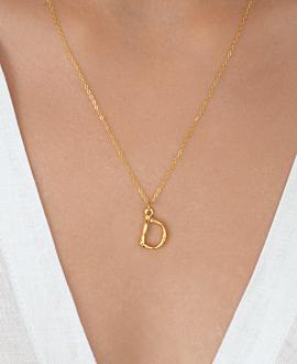 LETTER  Halskette D Gold
