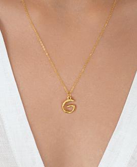 LETTER  Halskette G Gold