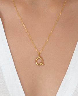 LETTER  Halskette Q Gold