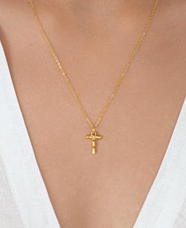 LETTER  Halskette T Gold