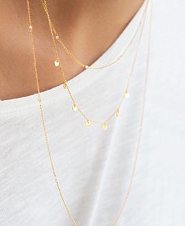 GLANCE Halskette Gold