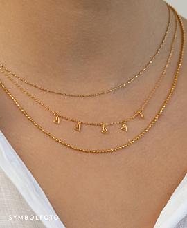 TRUE LOVE  Halskette Silber
