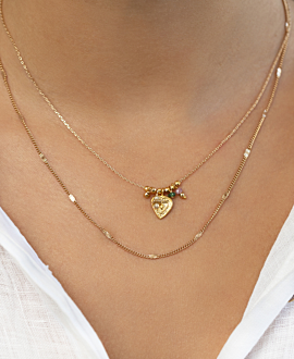 SELENE  Halskette Gold