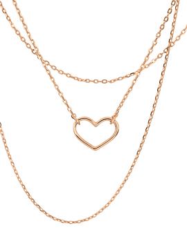 HEART Halskette Rosé
