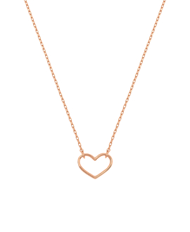 HEART Halskette rosé vergoldet