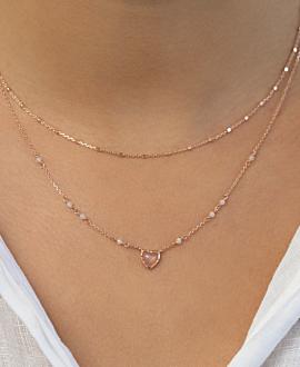 COEUR DE LA LUNE  Halskette Rosé
