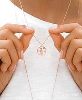 HIRSCH Halskette Silber