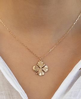 CLOVERLEAF  Halskette Gold