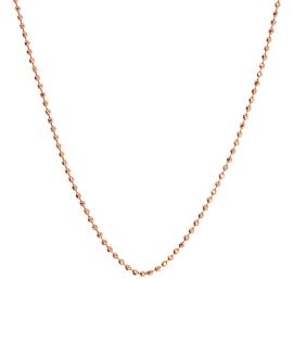 BALL CHAIN Halskette|14K Roségold