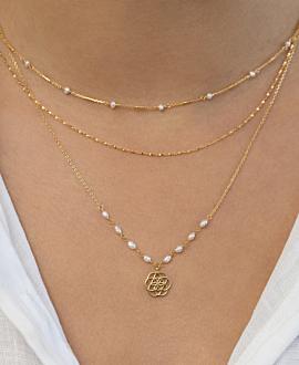 FLOWER OF LIFE  Halskette Gold