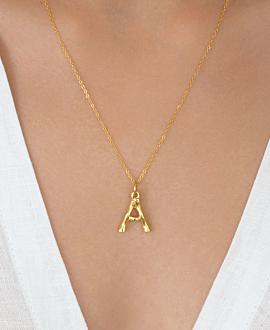 LETTER  Halskette A Gold