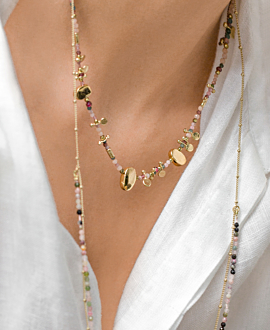 TOURMALINE NECKLACE GOLD