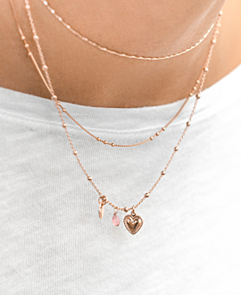 KIND HEART  NECKLACE ROSE