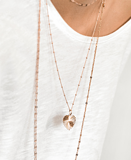 HEART NECKLACE ROSE