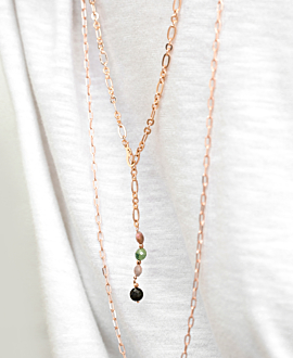 CHAIN LINK  Halskette Rosé