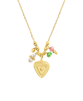 COLORFUL HEART  Halskette Gold