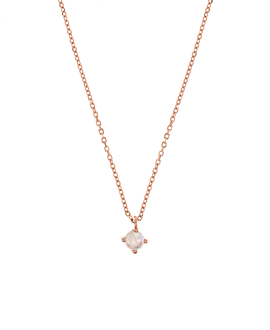 MOONSTONE  NECKLACE ROSE