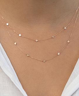 SHINY DETAILS Halskette  14K Roségold