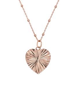 HEART|Halskette Rosé