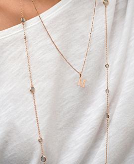 LABRADORITE Halskette Rosé
