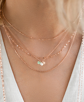 MAGICAL GEMS  NECKLACE ROSE
