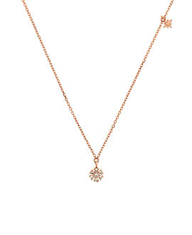 SNOWFLAKE TWINKLE NECKLACE ROSE