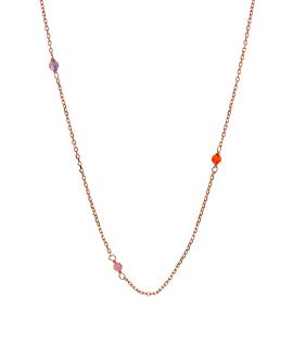 GLANCE Halskette Rosé