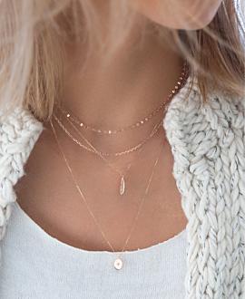 DAINTY  Halskette Silber