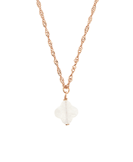 MOONY CLOVER  NECKLACE ROSE