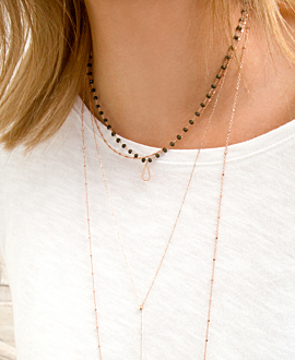 DROPLET NECKLACE KHAKI