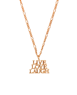 LIVE.LOVE.LAUGH.|Halskette Rosé