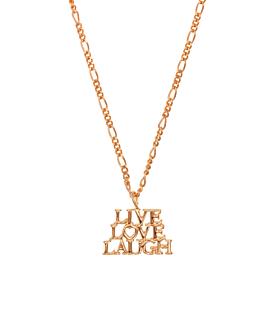 LIVE.LOVE.LAUGH.|Halskette Rosé