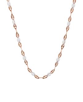 EMAILLE|Halskette Weiß