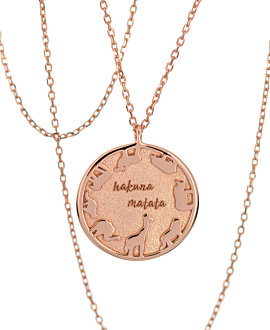 ANIMALS OF AFRICA NECKLACE ROSE
