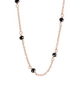 GRACIOUS  Halskette Schwarz