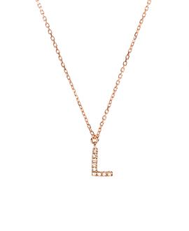 LETTER Halskette L|14K Roségold