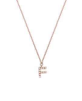 LETTER Halskette|14K Roségold
